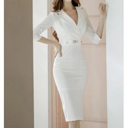Elegante Vestido Blanco