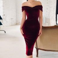 Asombroso Vestido de Terciopelo