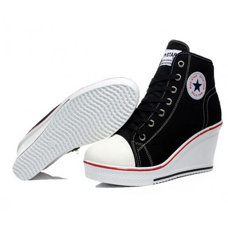Estilo Estilo Converse Con Zapatos Converse Plataformas Plataformas Zapatos Con 345AqcjLR