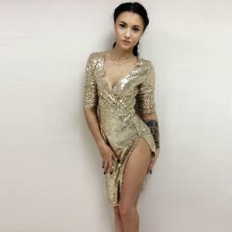 Increible Vestido De Lentejuelas