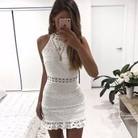Exclusivo Vestido Blanco con Encaje