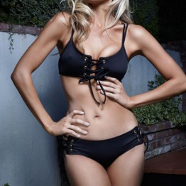 Precioso Bikini con Cordones Entrelazados