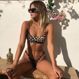 Bikini estilo Brasileño de Leopardo