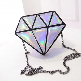 Bolso De Diamante Con Colores Tornasol