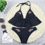 Bikini Con Bordado Floral