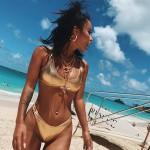 Bikini Brasileño Efecto Brillo