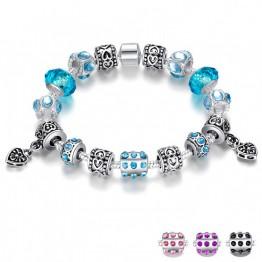 Pulsera Estilo Pandora Con Preciosos Cristales