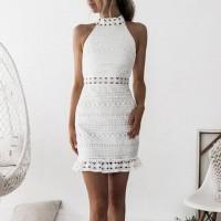 Hermoso Vestido Blanco Corto