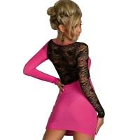 Exclusivo vestido con detalles de encaje