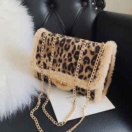 Bolso de Leopardo con asa metalica